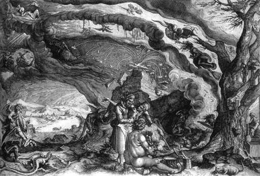 Andries Jacobsz Stock, 'Witches' Sabbath', Ca. 1610.