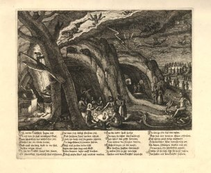 Based on engraving by Nicolaes de Clerck (after Jacques de Gheyn II), 'Witches', 1630.