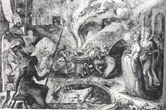 Jacques de Gheyn, 'Witches' Kitchen', early 17th century