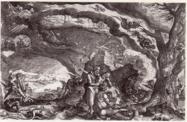 Andries Stock and Jacques de Gheyn, 'Witches preparing a Sabbath', ca. 1610