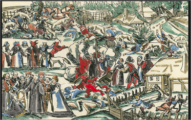 """George Kress, """"How 300 women turned themselves into werewolves, slaughtered their families and cattle, and how 85 of them were executed on May 6th 1591"""""""