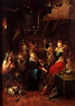 """Frans Francken II, """"Witches' Sabbath"""", 1606"""