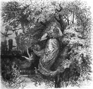 Holda, die gütige Beschützerin, by F.W. Heine, 1882.