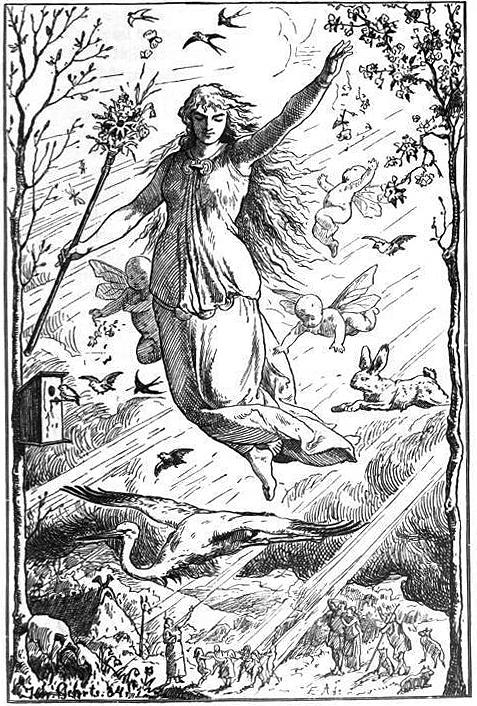 Ostara_by_Johannes_Gehrts 1884