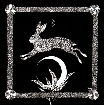 Hare charm rune fertility magic