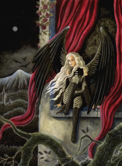 gothic fantasy dark wings